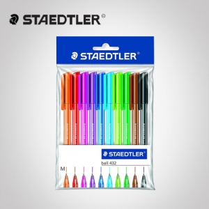 STAEDTLER® ball 432 office colours 스테들러 432볼펜 10본셋트